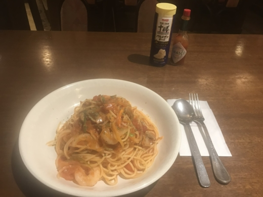 Today's dinner at Ando coffee cafe in Tenjin Fukuoka Japan.  #pasta #dinner #Ando #coffee #cafe #Tenjin #Fukuoka