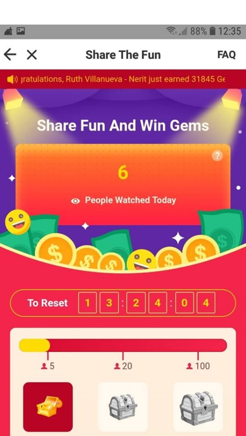 I am  glad  to tell you that there are more ways to get gems in Hapo. Now you can share your favorite, interesting pictures or videos with your friends or family. Earn money the smart way by getting paid for every person that views your shared links. Sounds great hah?Watch interesting content every day and make money by sharing it.  Click here to Download Hapo app https://www.hapoapp.com/h5/invite2register2?inviteCode=HRUHXQ&lang=en&hos=hapo&fbclid=IwAR17QQFCsaSAEc3FuKiwK6UEAc-B8P-jDt8HYV8L6Qh15yHyXlUZ48ikRXA