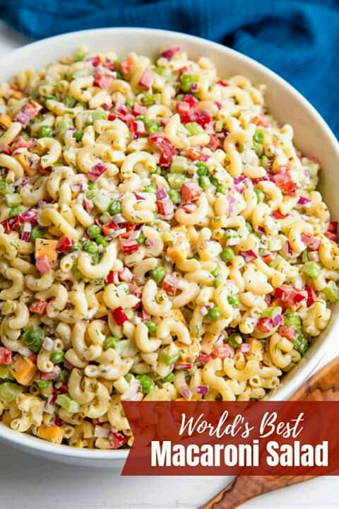 Macaroni Salad Is A Classic American Side Dish Served Up