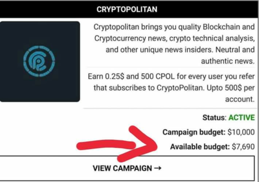 👉 Airdrop CryptoControl 👈  Free 50 CPOL token Per referral 500 CPOL token + 0,1eth  Link : https://cryptopolitan.cryptocontrol.io/a/budakz254  👉 Register 👉 Verif email 👉 Login  Done  Note : There's still a lot of rewards to join  # ethereum # bitcoin # litecoin # trx # cryptocurrency # crypto # EOS # ETH # blockchain # airdrop # bounty # ERC20 # ICO # exchange # btc # giveaway