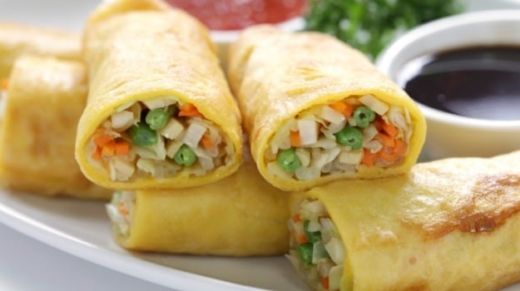 Spring Rolls A crisp appetizer where shredded veggies are encased in thin sheets and then fried golden   #springrolls #rolls #spring #crisp